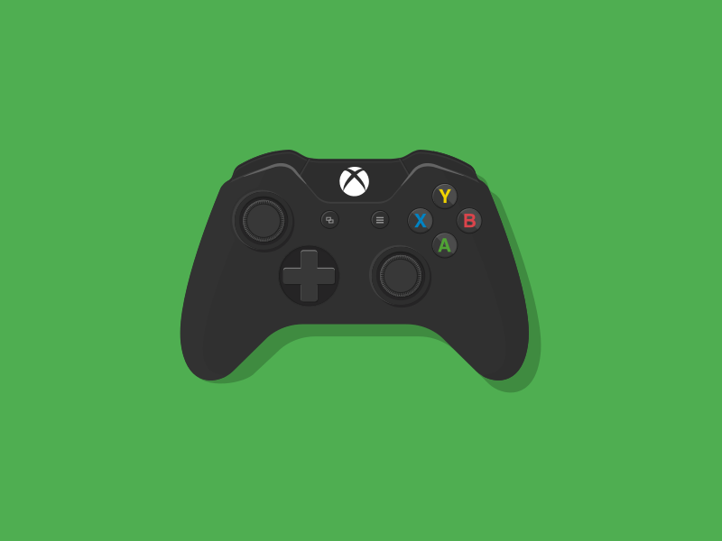 Video Game Controller Icon Xbox One Pad Sketch fr...