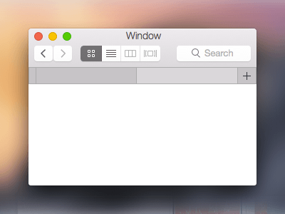 Apple Yosemite GUI