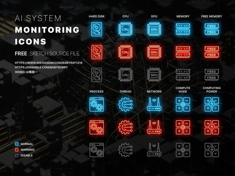 10 System Monitoring Icons