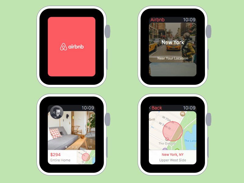 Airbnb Apple Watch Concept