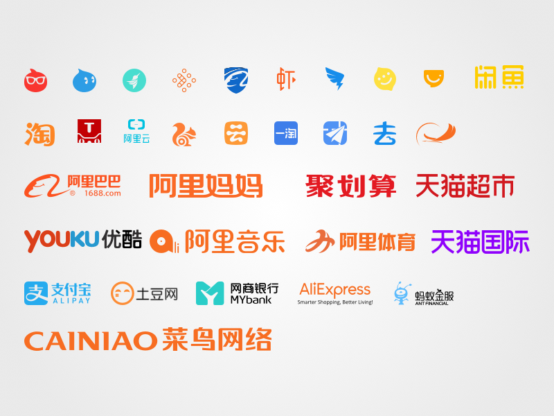 Alibaba Group Product Logos