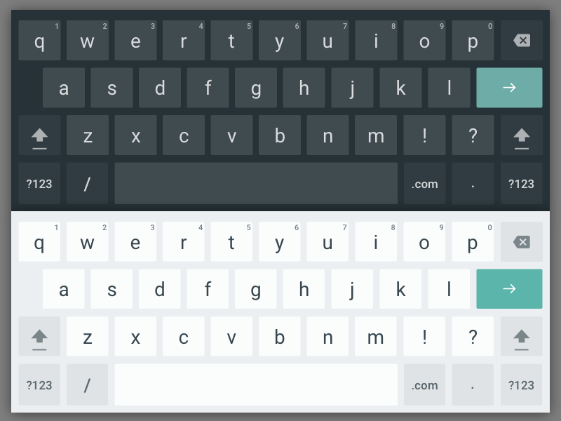 Android Tablet Keyboard