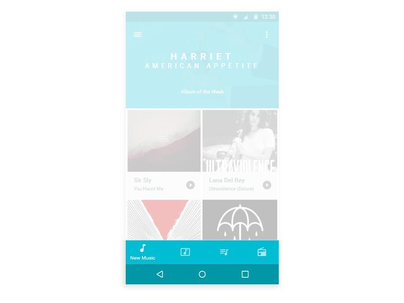 Android N Bottom Navigation Sketch freebie - Download free