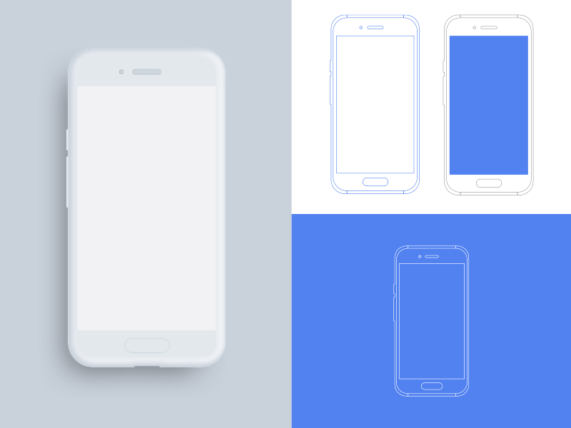 Android Device Outline Mockups