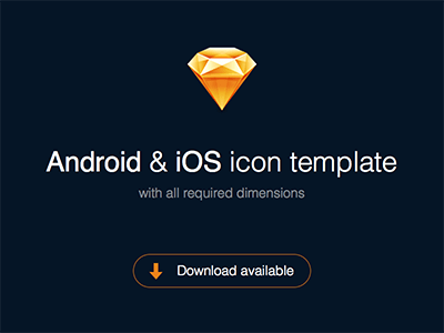 Sketch Icon Template for Android and iOS