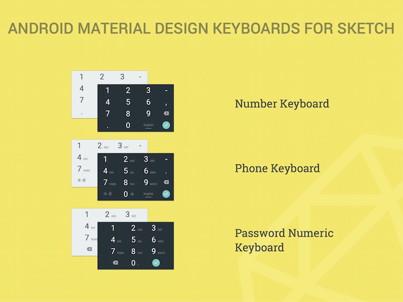 Android Material Design Numeric Keyboards