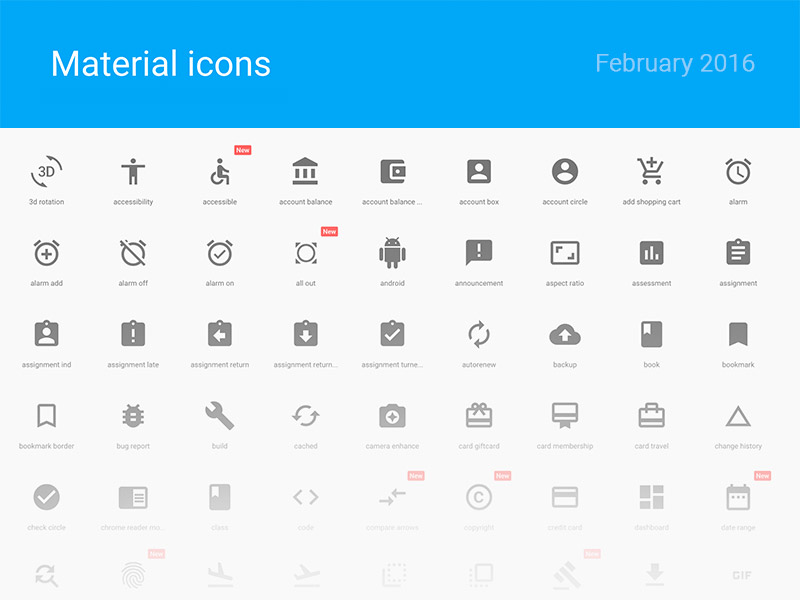 Material Icons Sketch freebie - Download free resource for