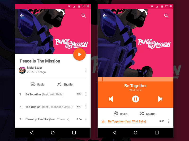 Music App UI Kit Sketch freebie - Download free resource for Sketch