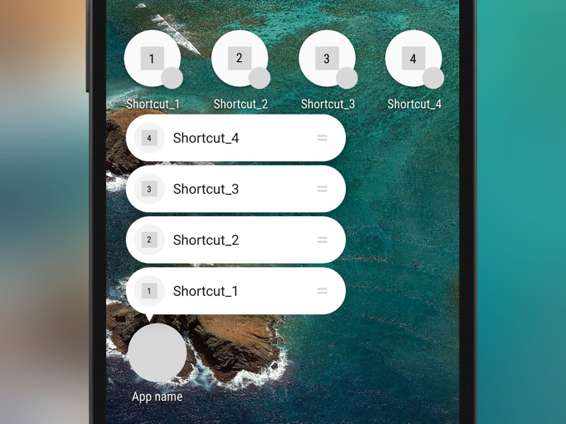 Android-N Shortcuts Template