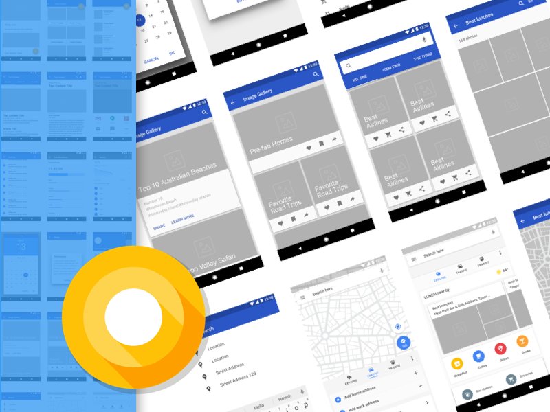 Android Wireframing Kit