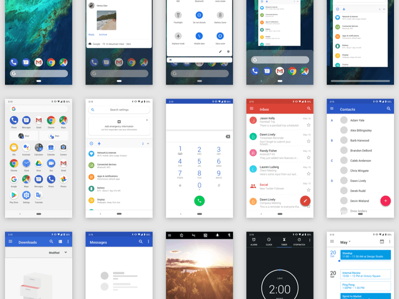 Android Pie UI Kit for Sketch Sketch freebie - Download free