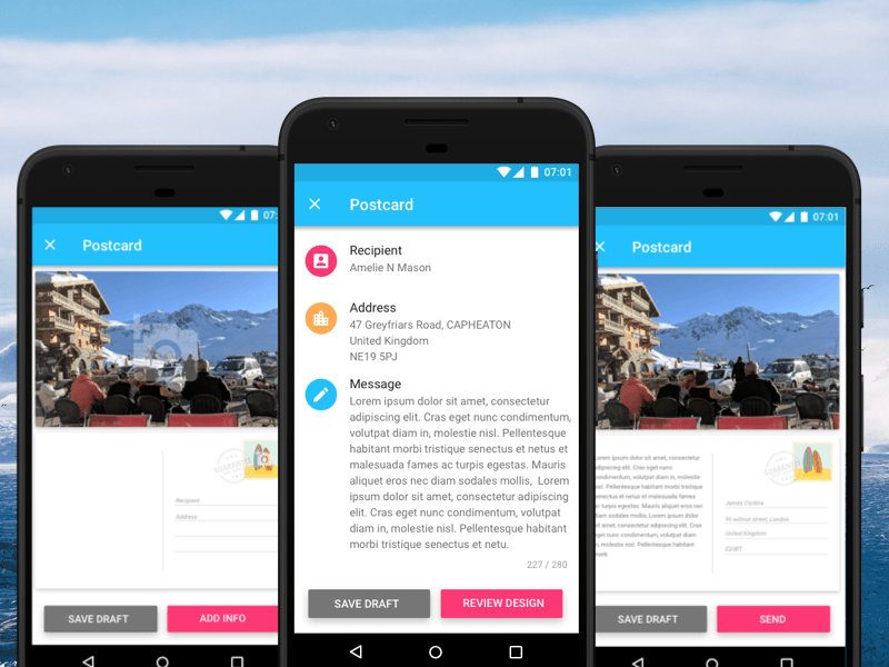 Android material design app templates free resources for Best home design apps for android