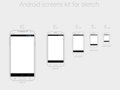 Android Wireframing Kit Sketch Freebie Download Free