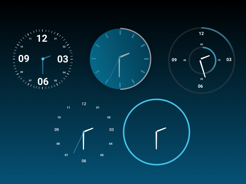 Android Clock UI