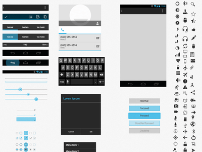 android ui xhdpi template sketch freebie download free resource