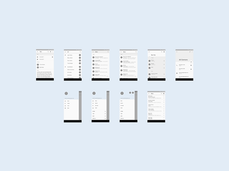 android l mobile ui template sketch freebie download free resource