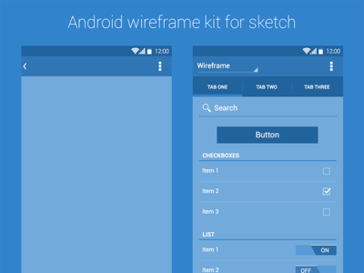Android Wireframe Kit