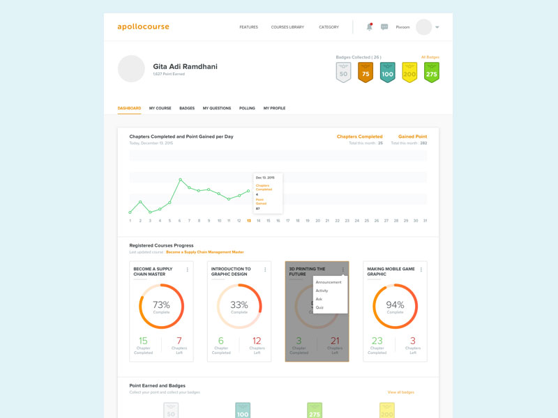 Online Course Dashboard