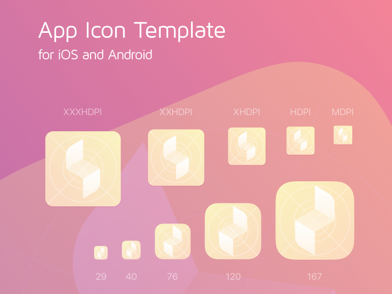 Ios and android app icon generator sketch freebie download free app icon template v21 maxwellsz