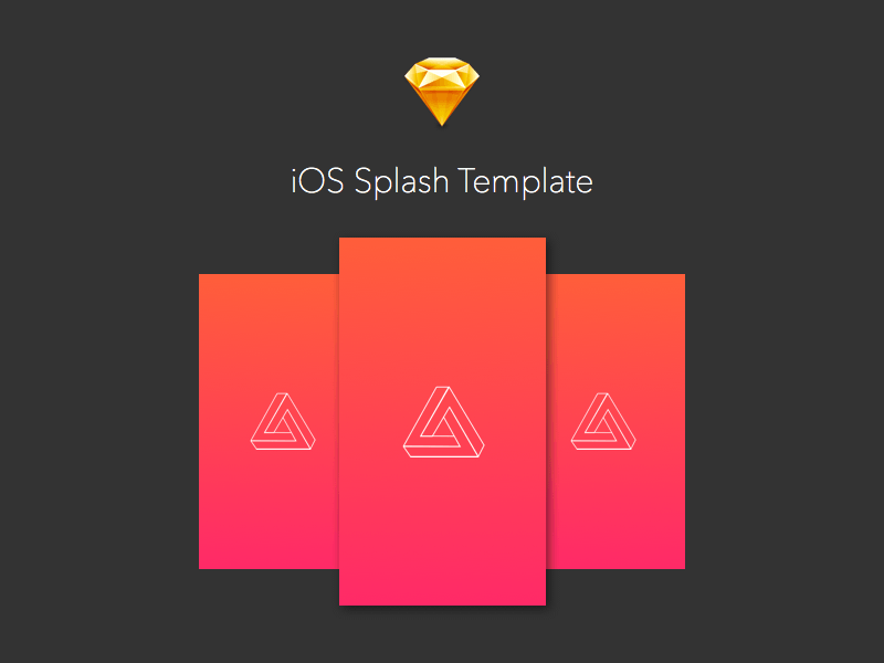 Ios splash launcher image templates sketch freebie for Ios splash screen template psd