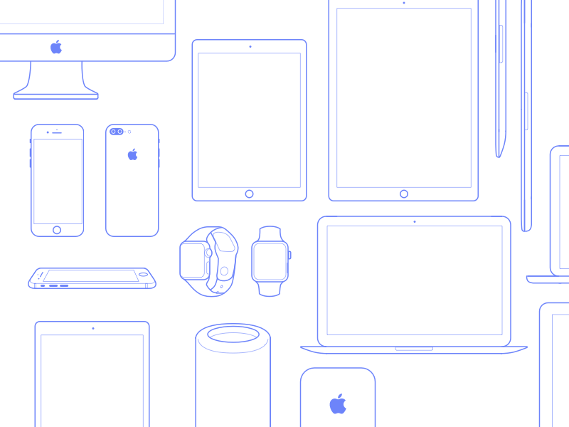Apple Devices Icons Set
