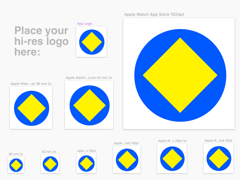 Apple WatchKit Icon Template