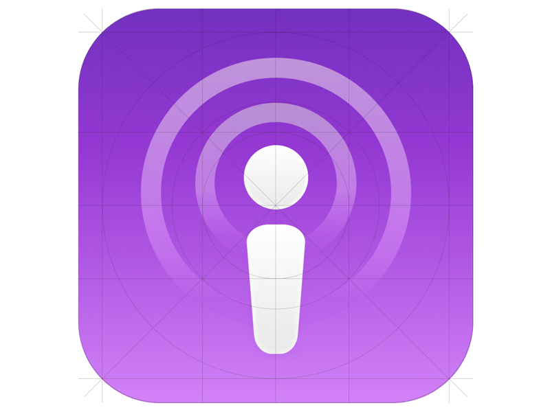 Apple Podcasts Sketch freebie - Download free resource for Sketch
