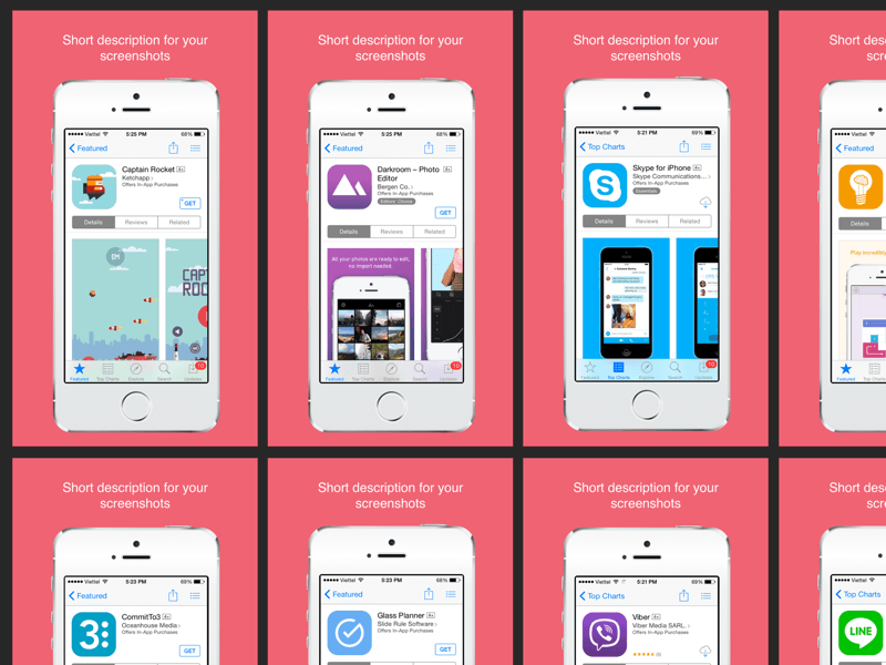 app store screenshot template - app store screenshots sketch freebie download free