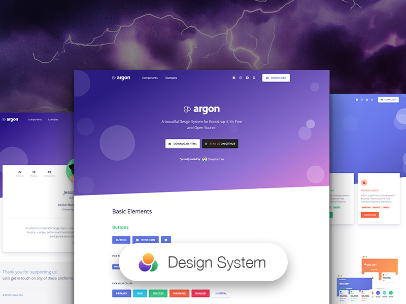 Argon Design System Sketch freebie - Download free resource for
