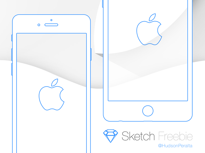 IPhone 6 And Plus Wireframe
