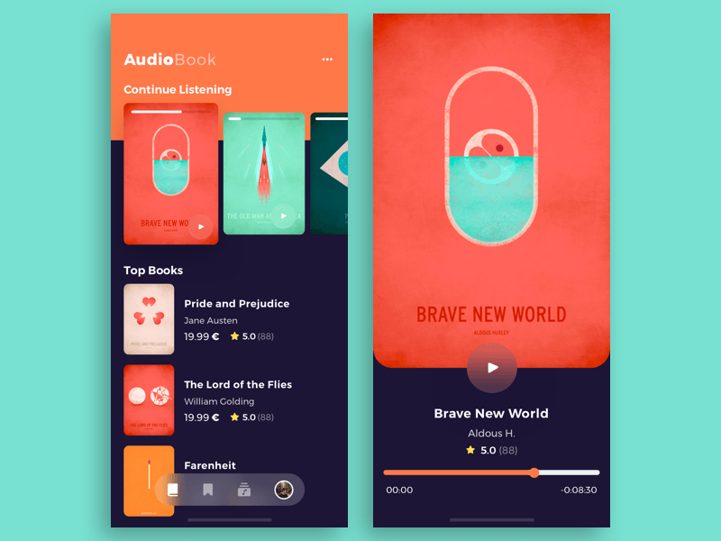 Audio Book App Concept