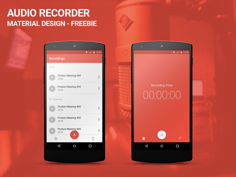 audio recorder sketch freebie download free resource for