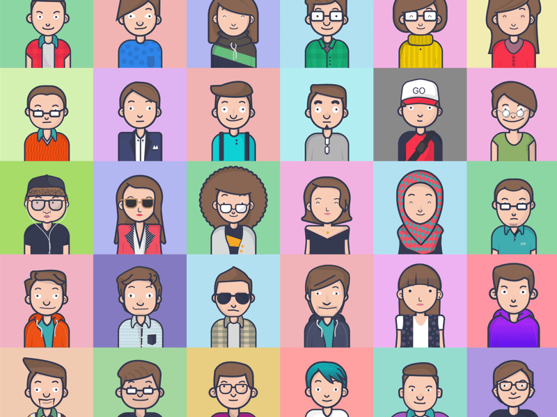 Diverse and Colorful Avatars