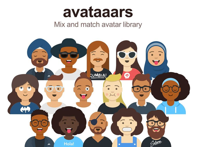 Avatars Sketch Library