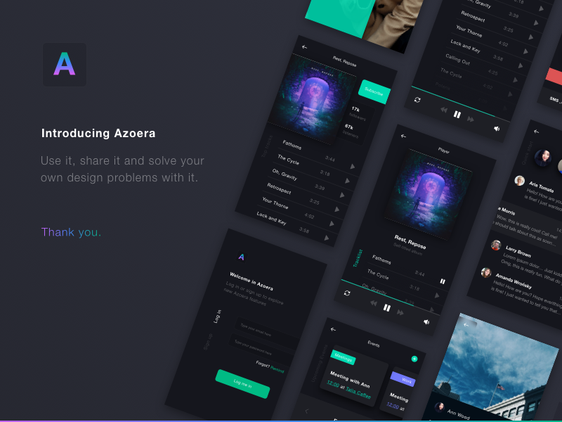 Azoera - Dark UI Mobile App