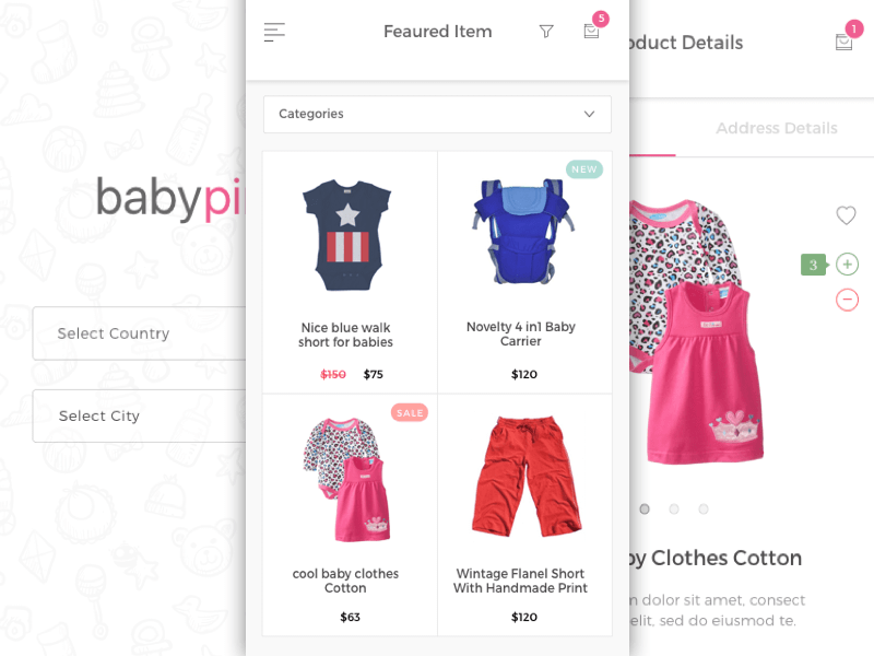 Baby Pink iOS UI Element