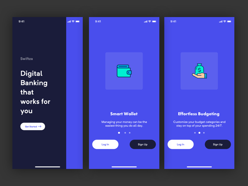 Bank App Onboarding Screens