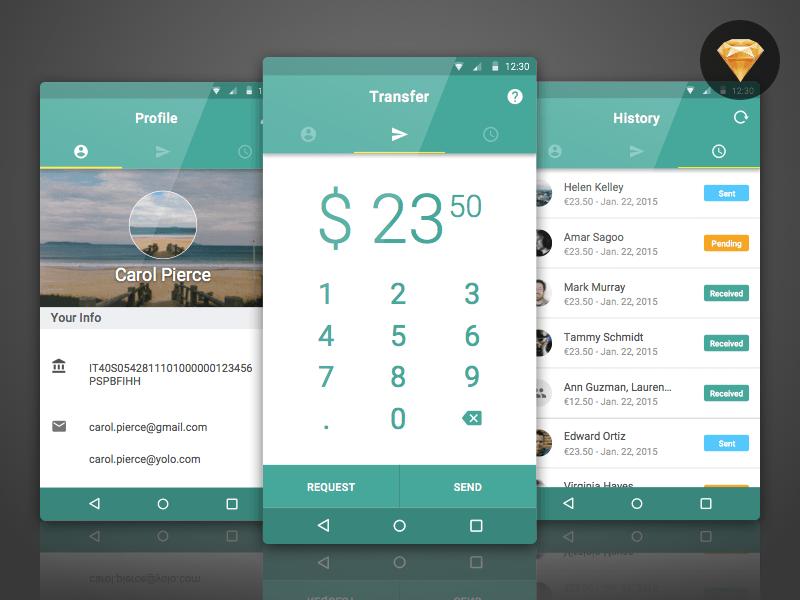 Banktag Banking App Concept Sketch Freebie Download
