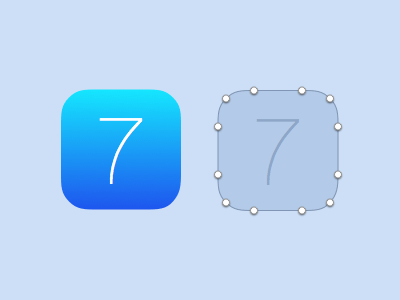 iOS 7 Base Icon, correct border radius