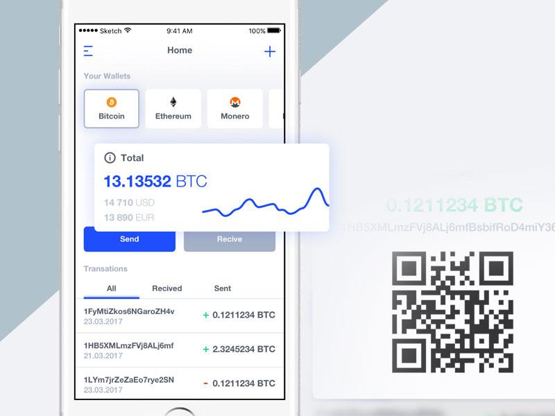 Bitcoin Wallet App Concept
