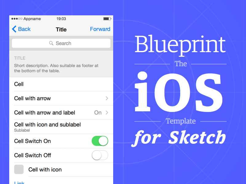 Blueprint Template Sketch freebie - Download free resource