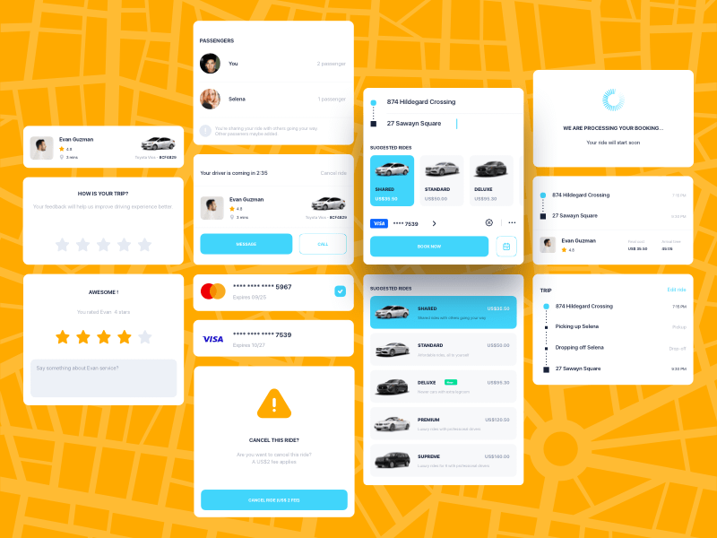 Ride Booking UI Components