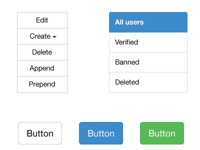 Bootstrap 3 Vector UI Kit