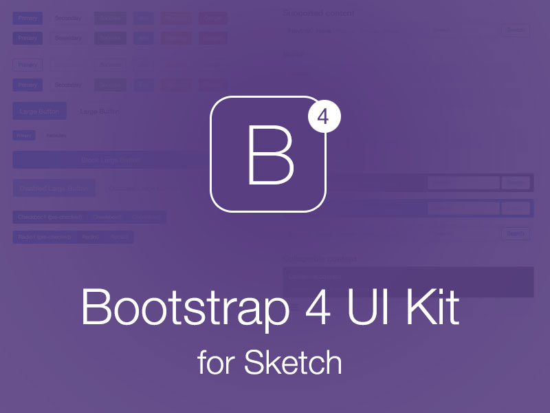 Bootstrap 4 Ui Kit For Sketch Sketch Freebie Download