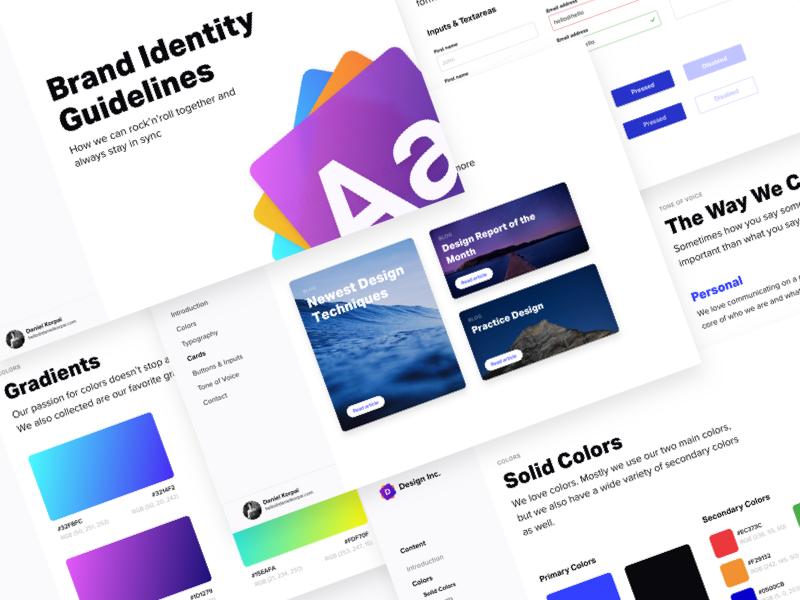 brand identity guidelines v2 sketch freebie