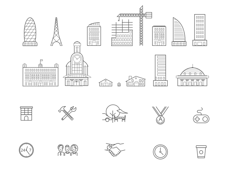 Brooks Building Icons