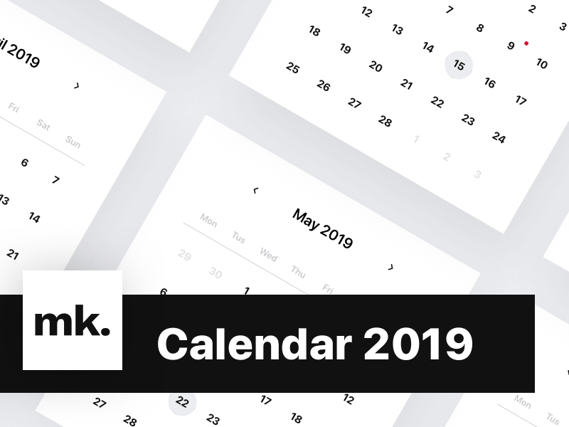 Calendar 2019 Sketch freebie - Download free resource for