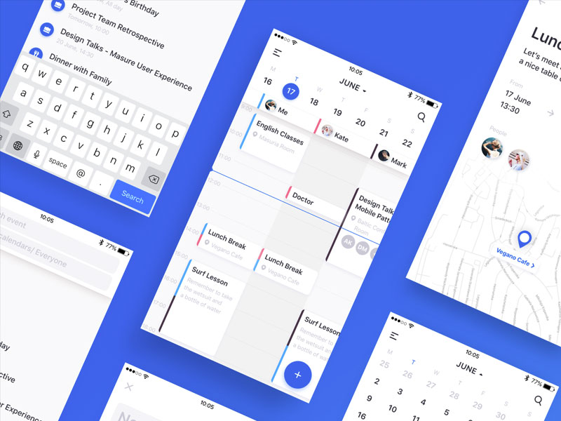 Calendar App Sketch Freebie Download Free Resource For Sketch