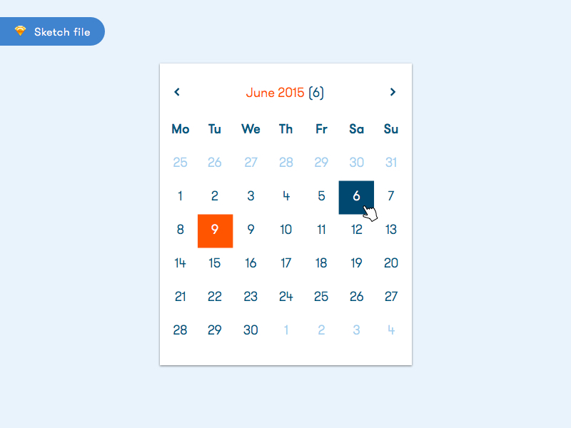 calendar sketch freebie download free resource for