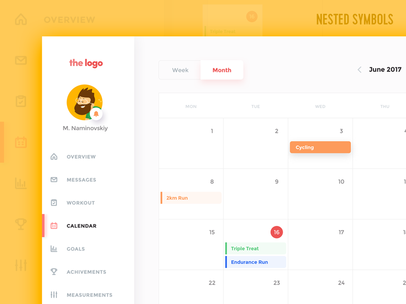 Calendar App Template Sketch Freebie Download Free Resource For